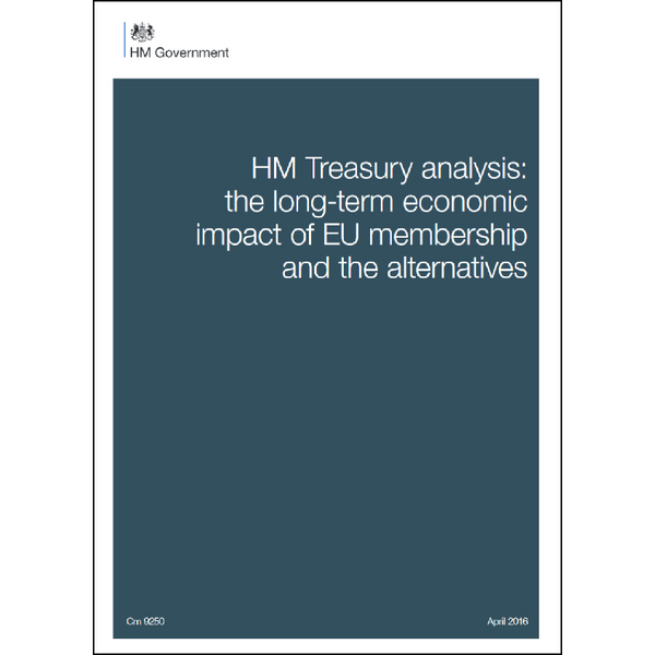 HM Treasury analysis: the long-term economic impact of EU membership and the alternatives