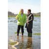 Brian discussing flooding with South West MEP Sir Graham Watson