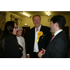 Brian speaks with Chippenham MP Duncan Hames and members of the local team Nic and Jenny