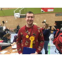 Alex Mann at the North Wilts General Election Count, December 2019